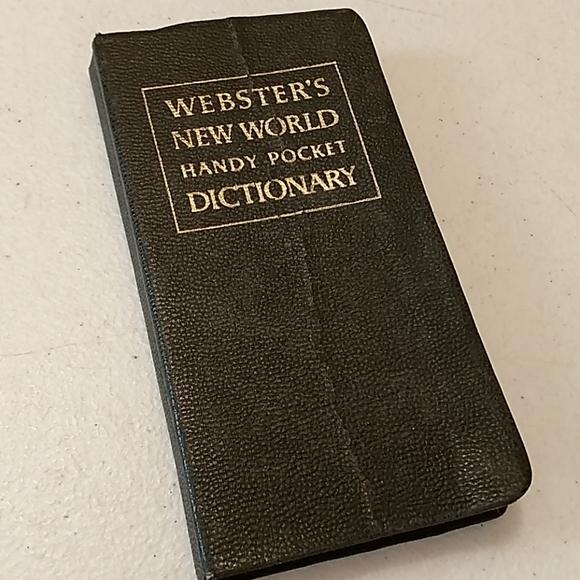 Vintage Webster's new world pocket dictionary
